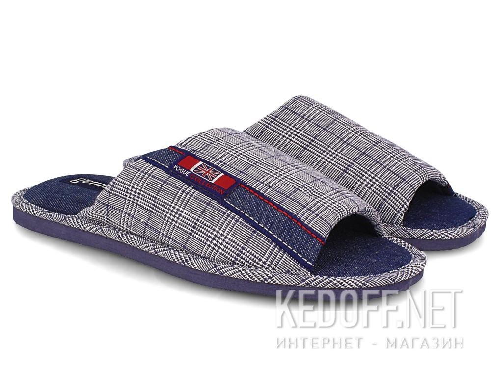 Мужские тапочки Gemelli 160634-3789 (синий) купить Киев