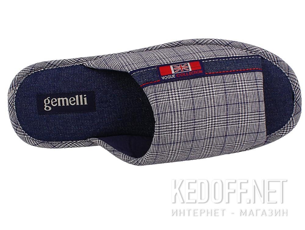 Оригинальные Мужские тапочки Gemelli 160634-3789 (синий)