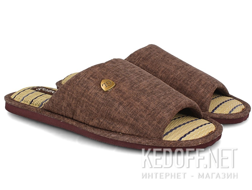 Мужские тапочки Gemelli 160750-45 (тёмно-коричневый) купить Киев