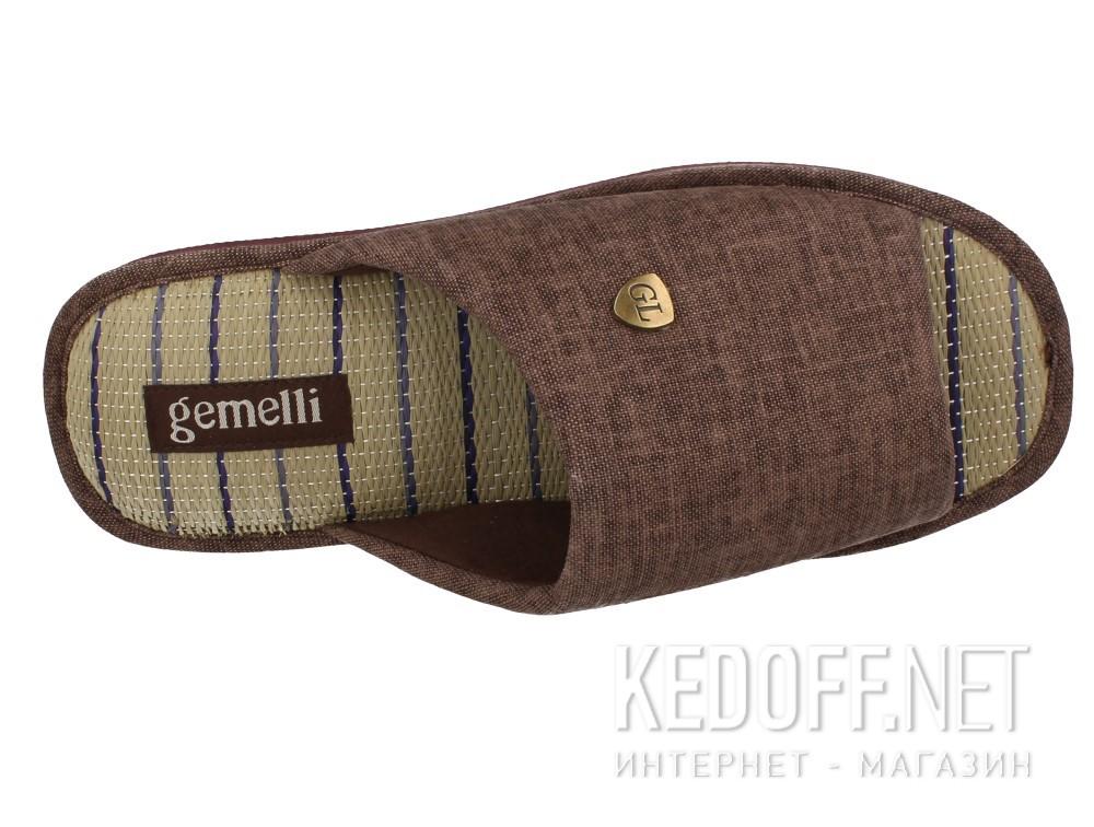 Мужские тапочки Gemelli 160750-45 (тёмно-коричневый) описание