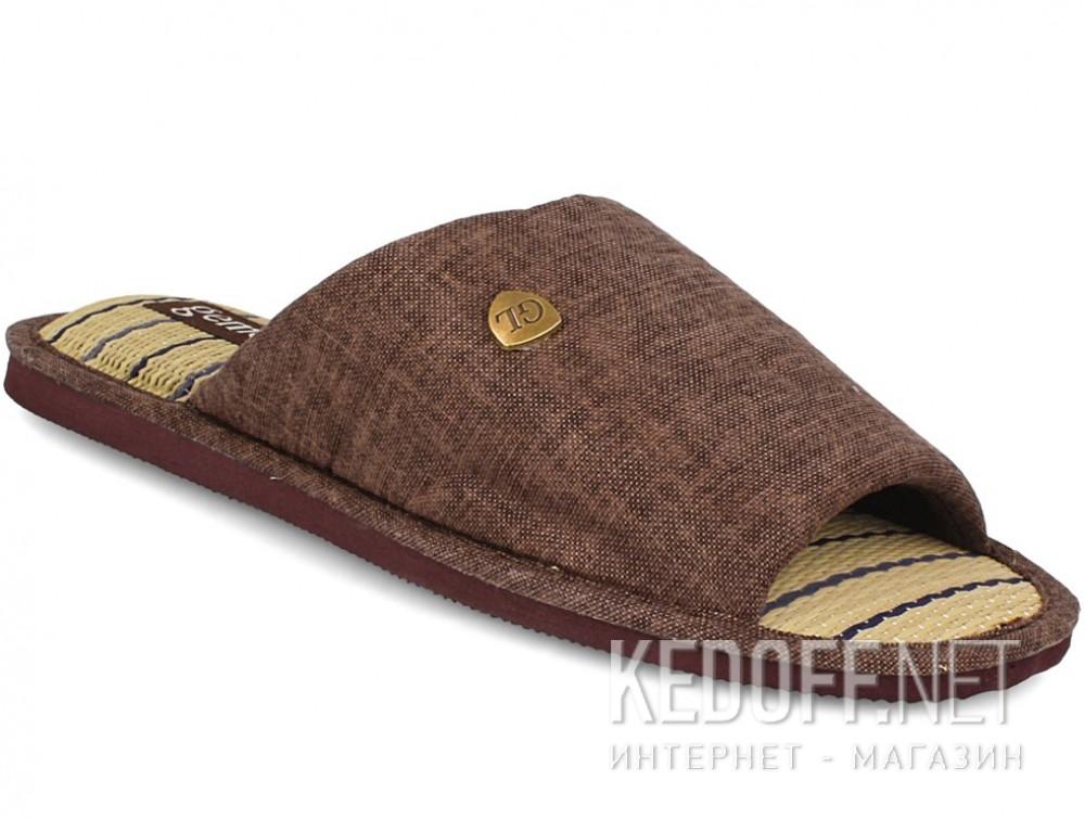 Купить Мужские тапочки Gemelli 160750-45 (тёмно-коричневый)