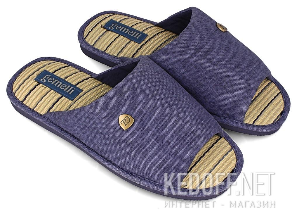 Мужские тапочки Gemelli 160750-89 (тёмно-синий) купить Украина