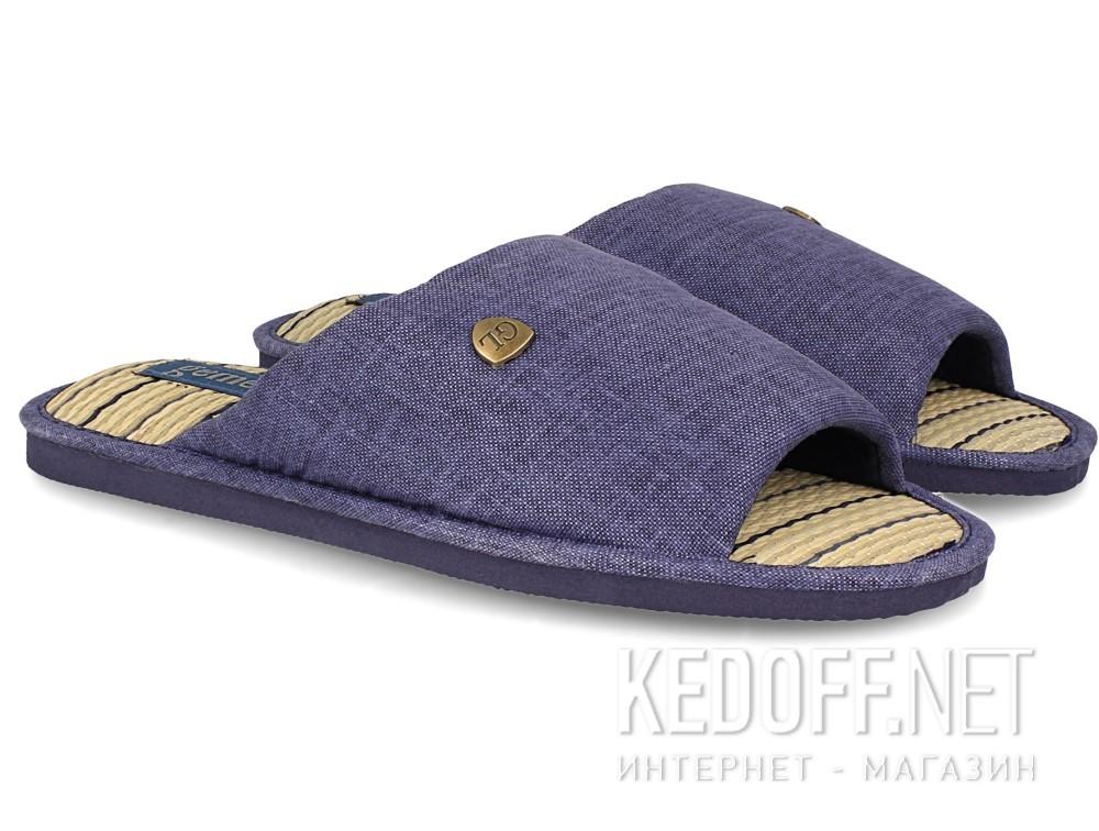 Мужские тапочки Gemelli 160750-89 (тёмно-синий) купить Киев
