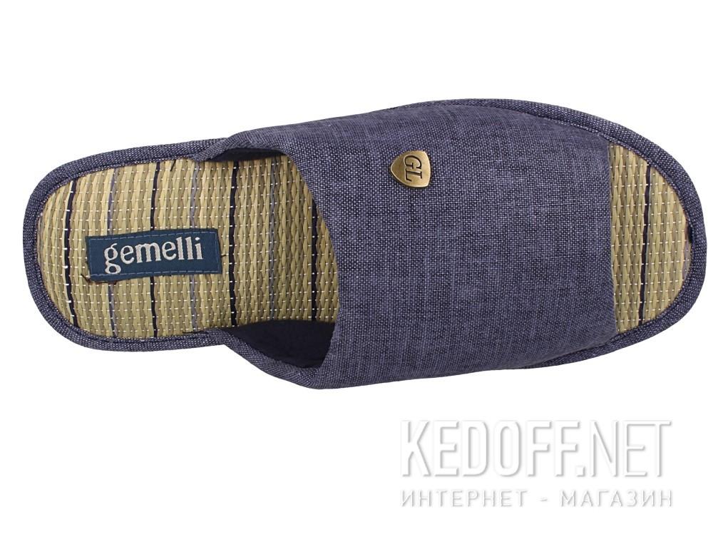 Оригинальные Мужские тапочки Gemelli 160750-89 (тёмно-синий)