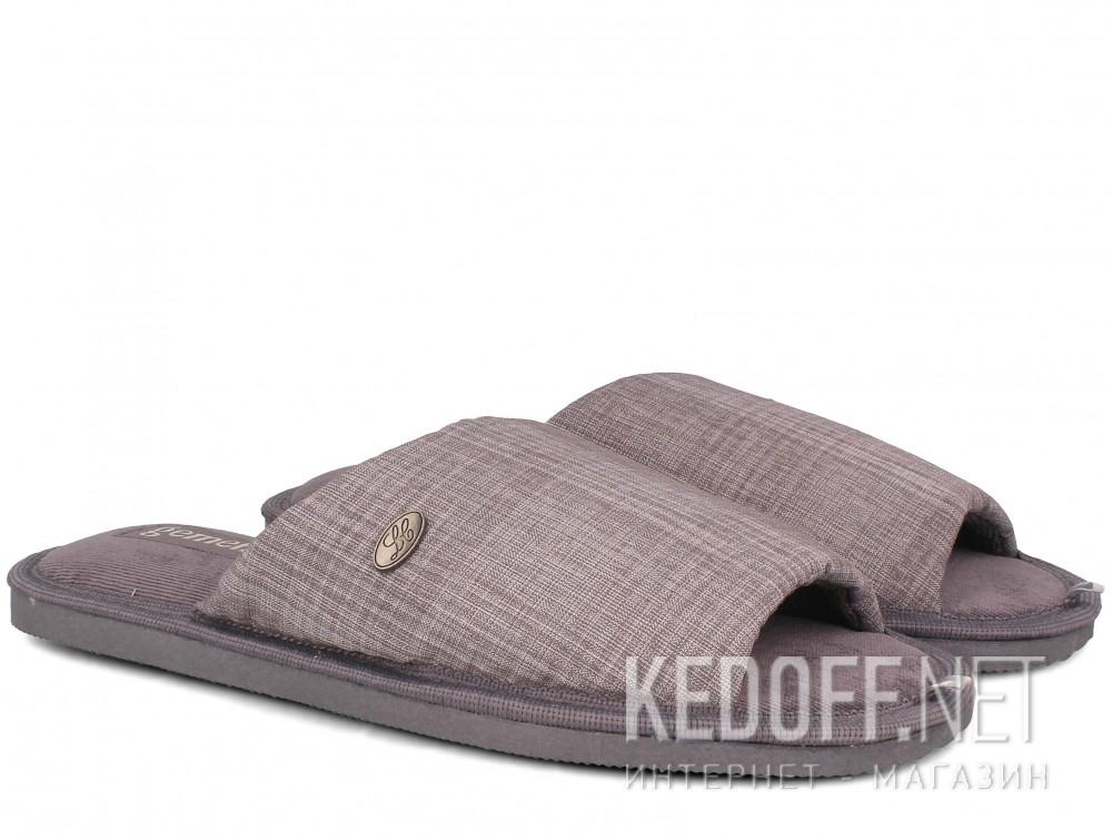 Мужские тапочки Gemelli 2237-37 (серый) купить Украина