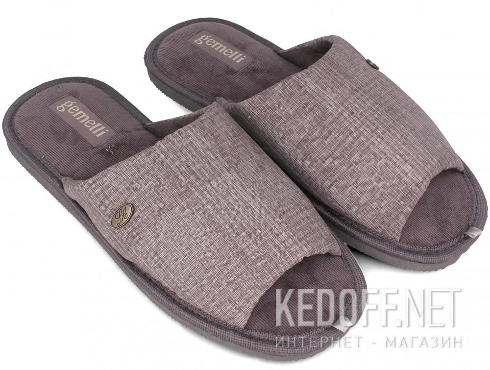 Мужские тапочки Gemelli 2237-37 (серый) купить Киев