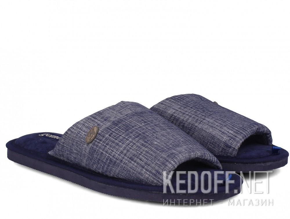 Мужские тапочки Gemelli 2237-89 (тёмно-синий) купить Украина