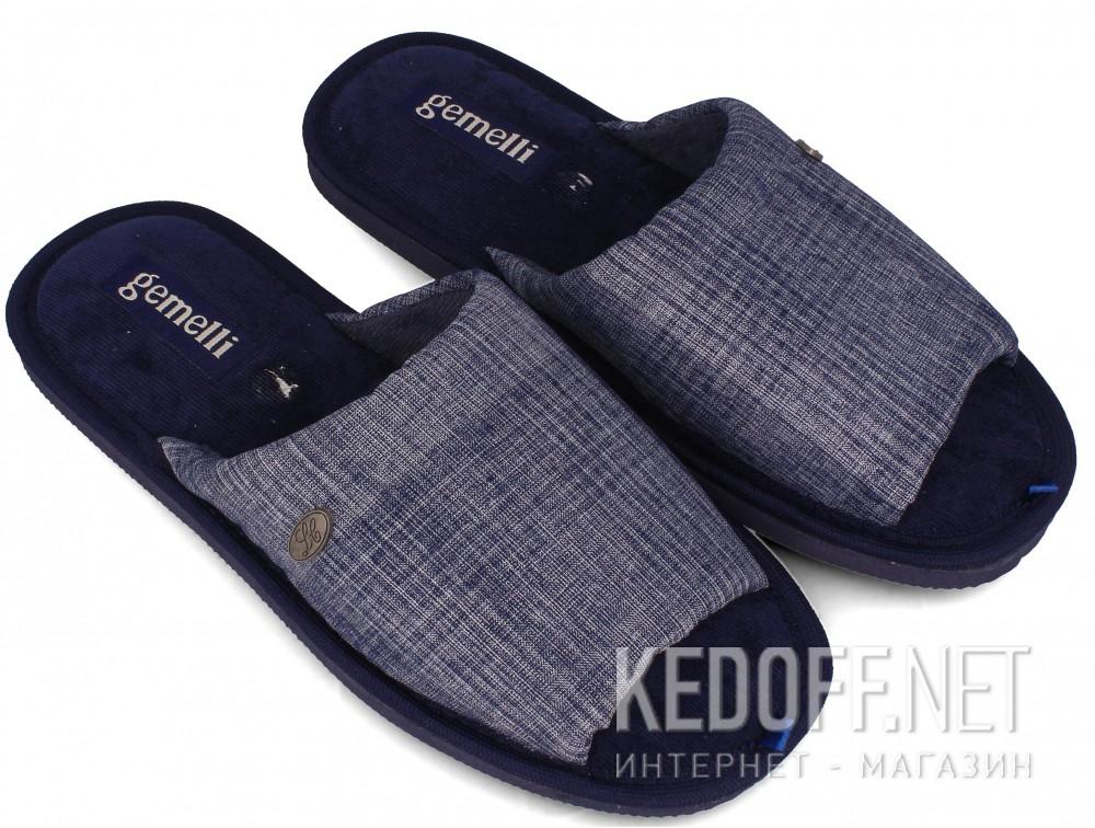 Мужские тапочки Gemelli 2237-89 (тёмно-синий) купить Киев