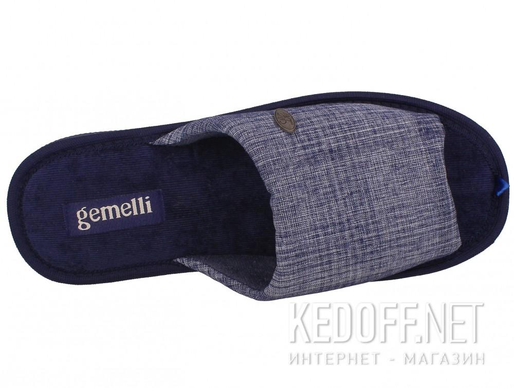 Оригинальные Мужские тапочки Gemelli 2237-89 (тёмно-синий)