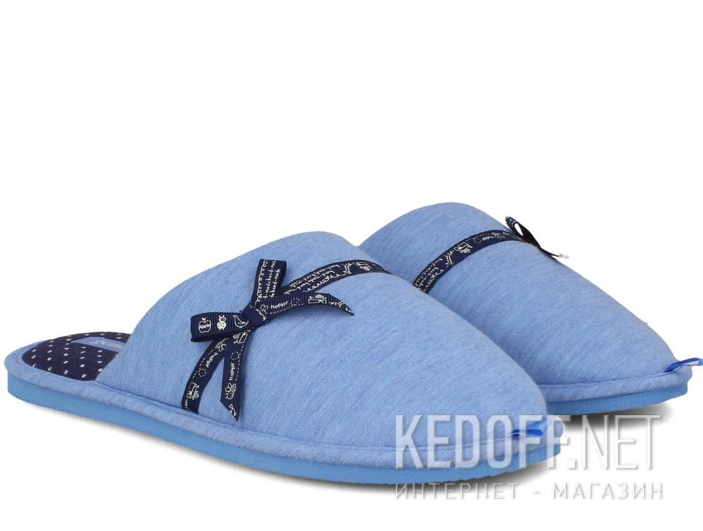 Женские домашние тапочки Gemelli 1601676-42 (голубой) купить Украина