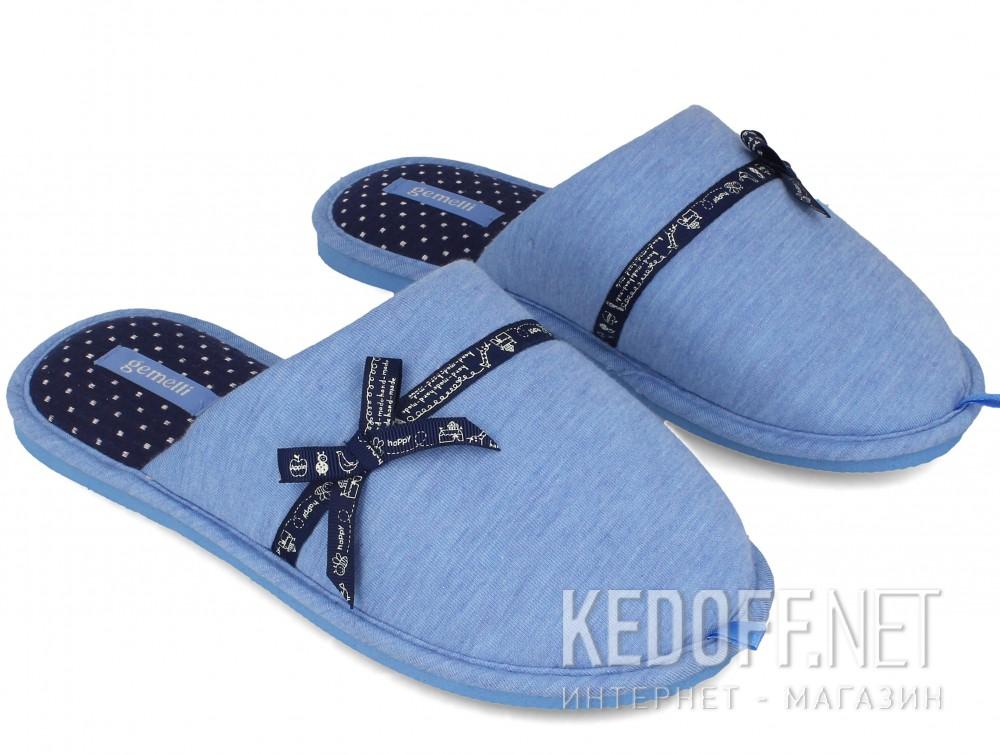 Женские домашние тапочки Gemelli 1601676-42 (голубой) купить Киев