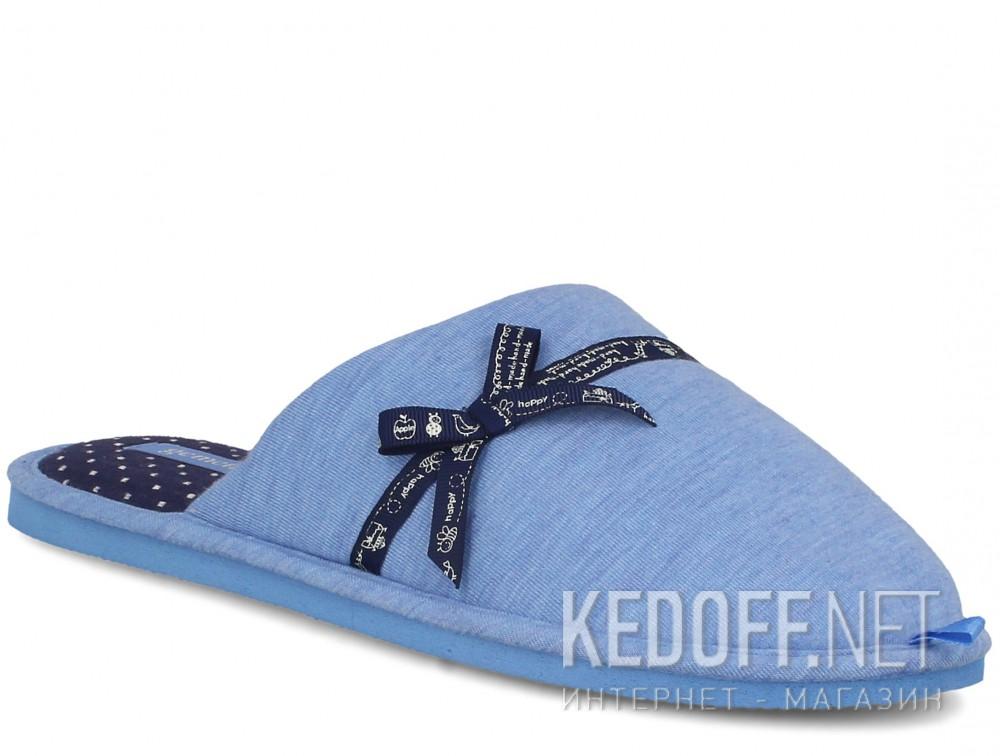Купить Женские домашние тапочки Gemelli 1601676-42 (голубой)
