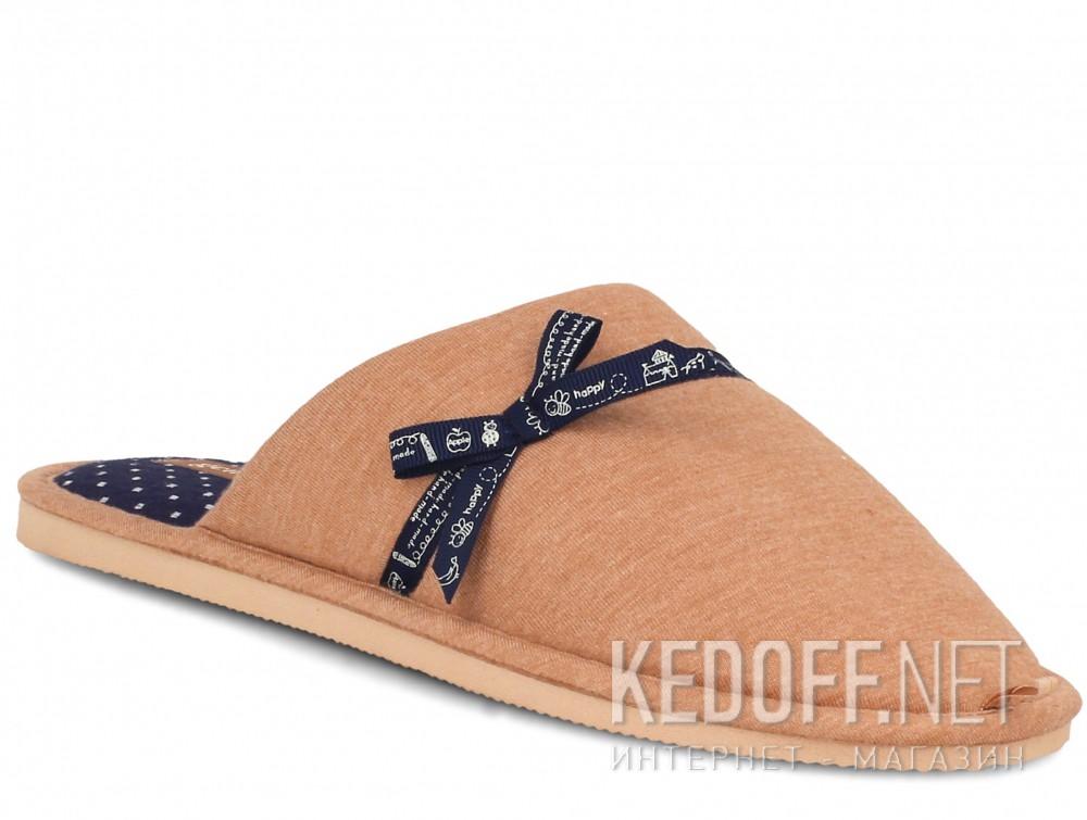Купить Женские шлепанцы Gemelli 1601676-45 (коричневый)