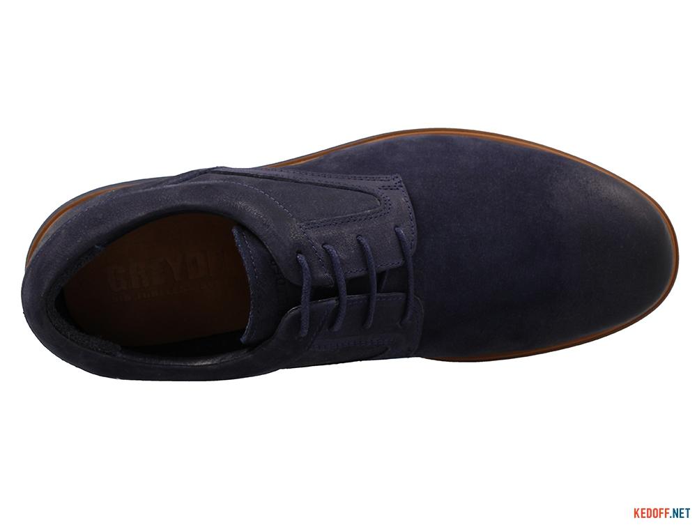 Чоловічі туфлі Greyder Smart 03501-5262 Синій нубук