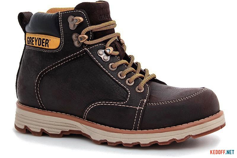 Чоловічі черевики Greyder 10430-5274 Темнокоричневі