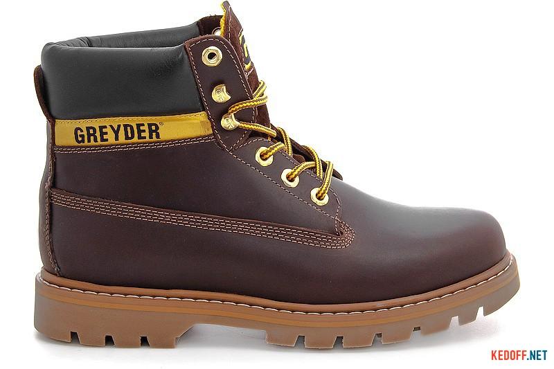 Men's boots Greyder 10450-5654 dark brown leather