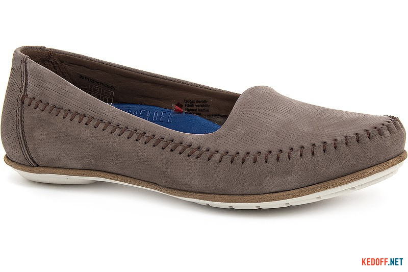 Women's loafers Greyder 2650-1043 coffee nubuck