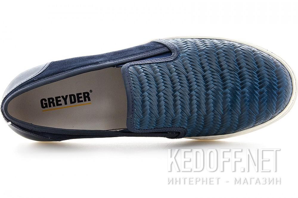 Мужские Greyder 3770-51382 Темносиние кожаные