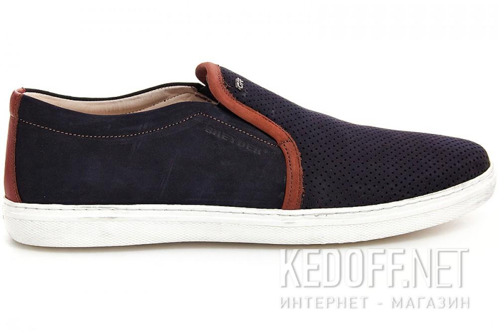 Men's dark blue suede shoes Greyder 8012-2