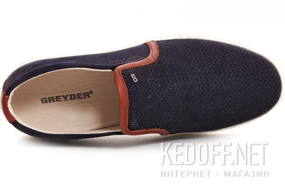 Чоловічі замшеві Greyder 8012-2 Темно-синій