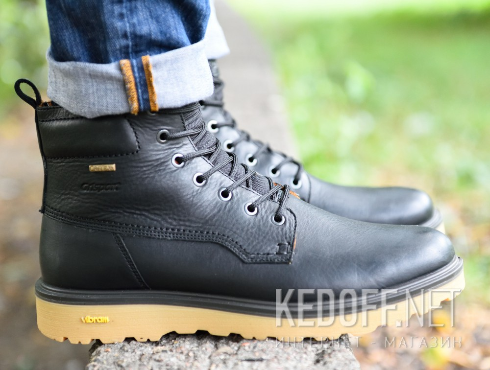 Мужские ботинки Grisport Vibram Gritex 40203-O59lg Made in Italy   (чёрный) все размеры