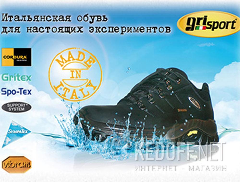 Мужские кроссовки Grisport Gritex Vibram 13109-S7g Made in Italy   (чёрный) доставка по Украине