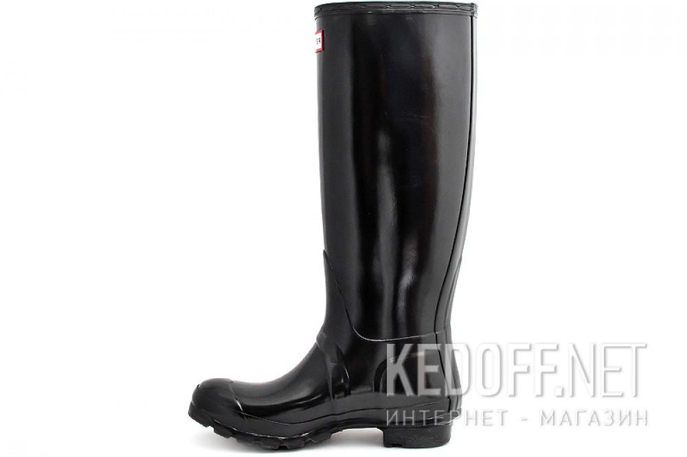 Женские резиновые сапоги Hunter Original Tall Gloss 23616-2   (чёрный) купить Украина