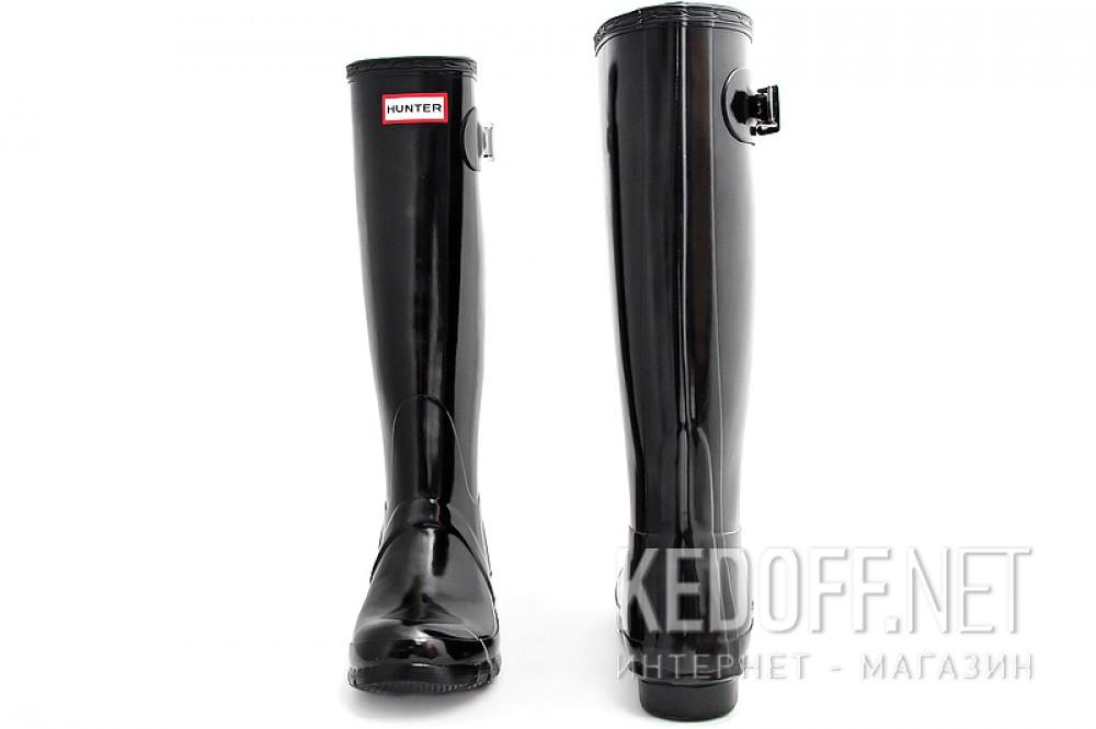 Женские резиновые сапоги Hunter Original Tall Gloss 23616-2   (чёрный) купить Киев