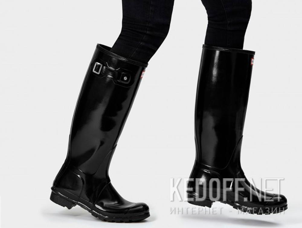 Доставка Женские резиновые сапоги Hunter Original Tall Gloss 23616-2   (чёрный)