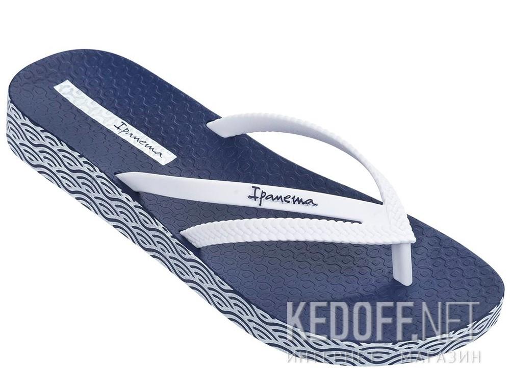 Купить Шлепанцы Ipanema Bossa Soft Fem 82064-21308  (тёмно-синий/белый)