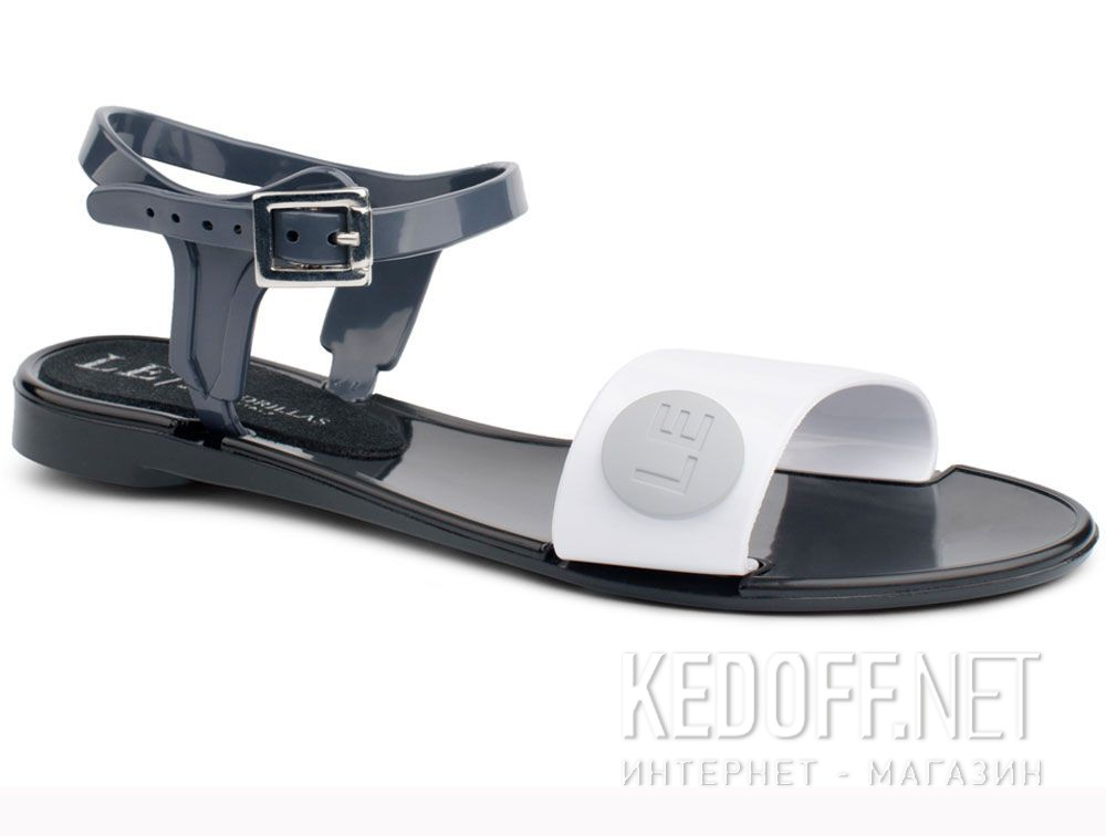 Купить Женские босоножки Las Espadrillas JELLY 2 V6565-2713 Made in Italy (чёрный/серый/белый)