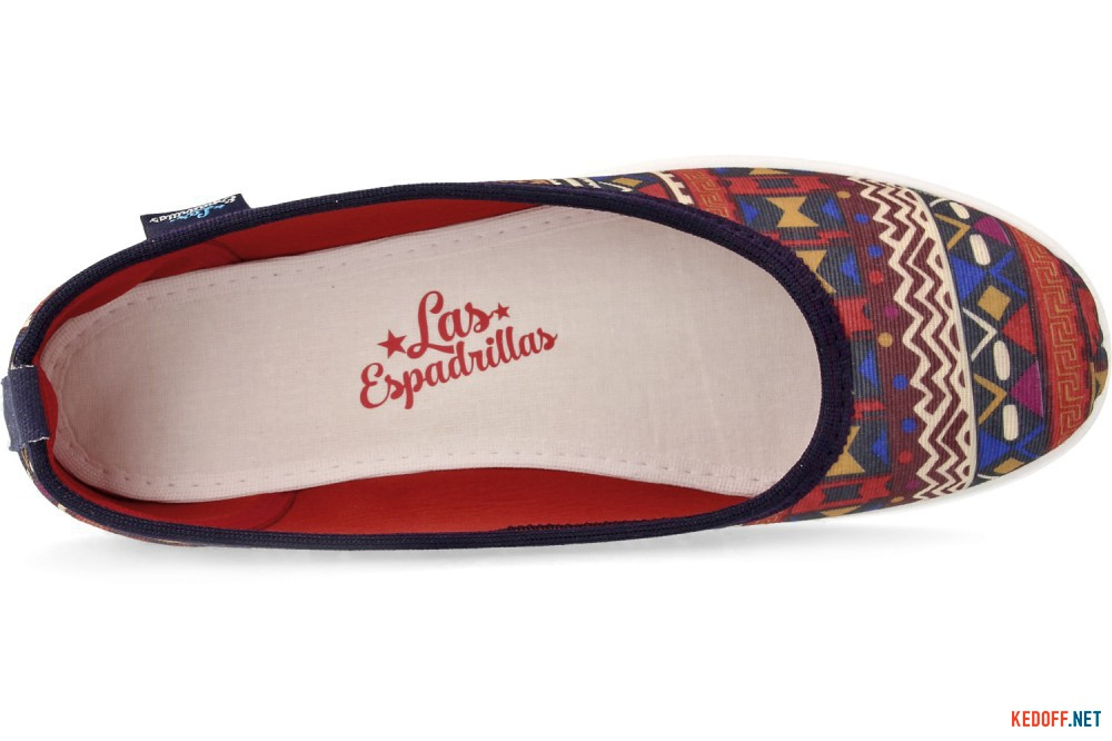 Women's ballerinas Las Espadrillas Red Karpet Motion Foam 300816-8947