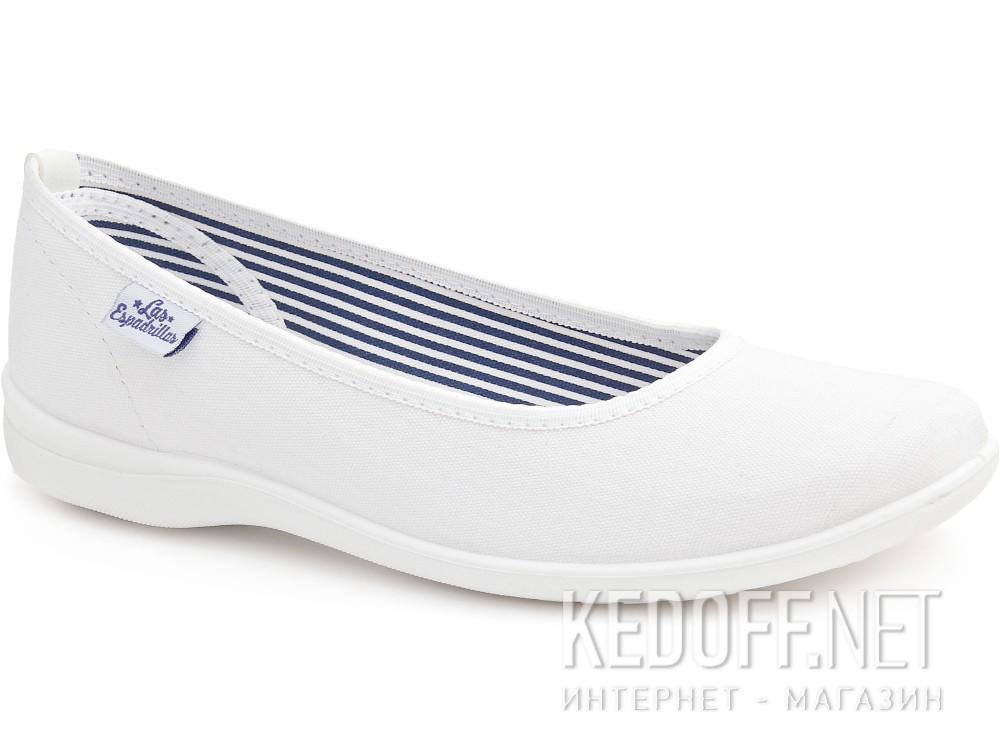 Балетки Las Espadrillas 400816-13CF   (белый) купить Киев
