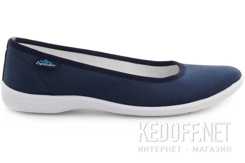 Женские балетки Las Espadrillas La Coste Navy Canvas 300816-89