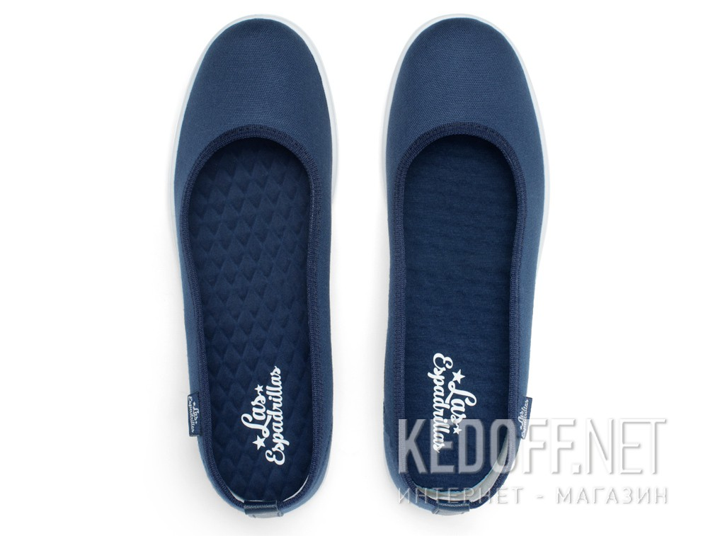 Жіночі балетки Las Espadrillas La Coste Navy Canvas 300816-89
