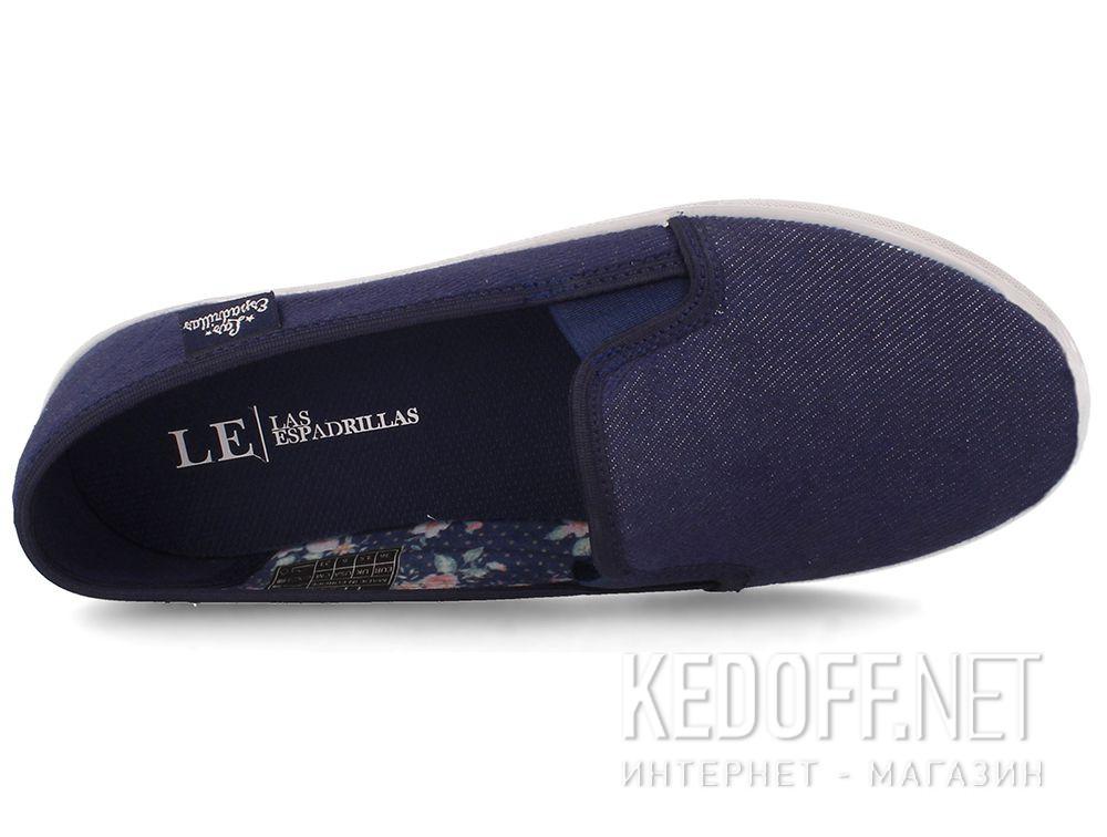 Женские слипоны Las Espadrillas LE003-42 Navy описание
