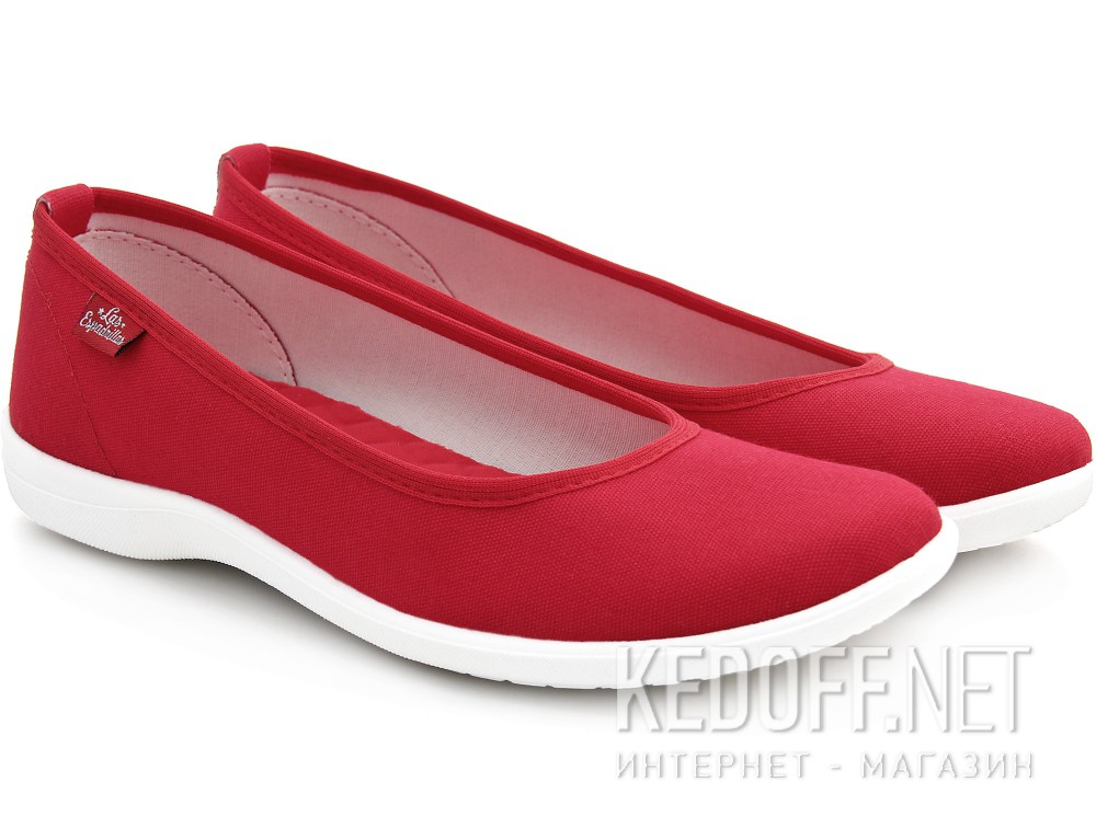 Women's Red ballerinas Las Espadrillas La coste 300816-47