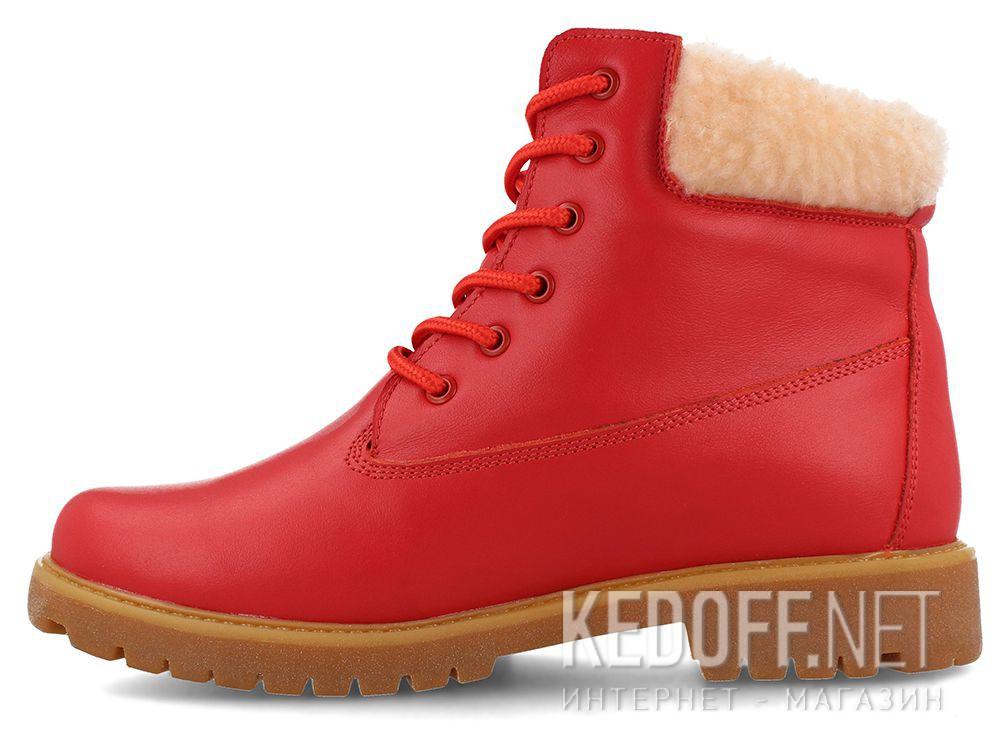 Оригинальные Женские ботинки Forester Red Lthr Yellow Boot  0610-247