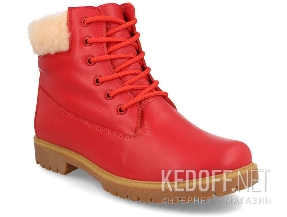 Жіночі черевики Forester Red Lthr Yellow Boot 0610-247