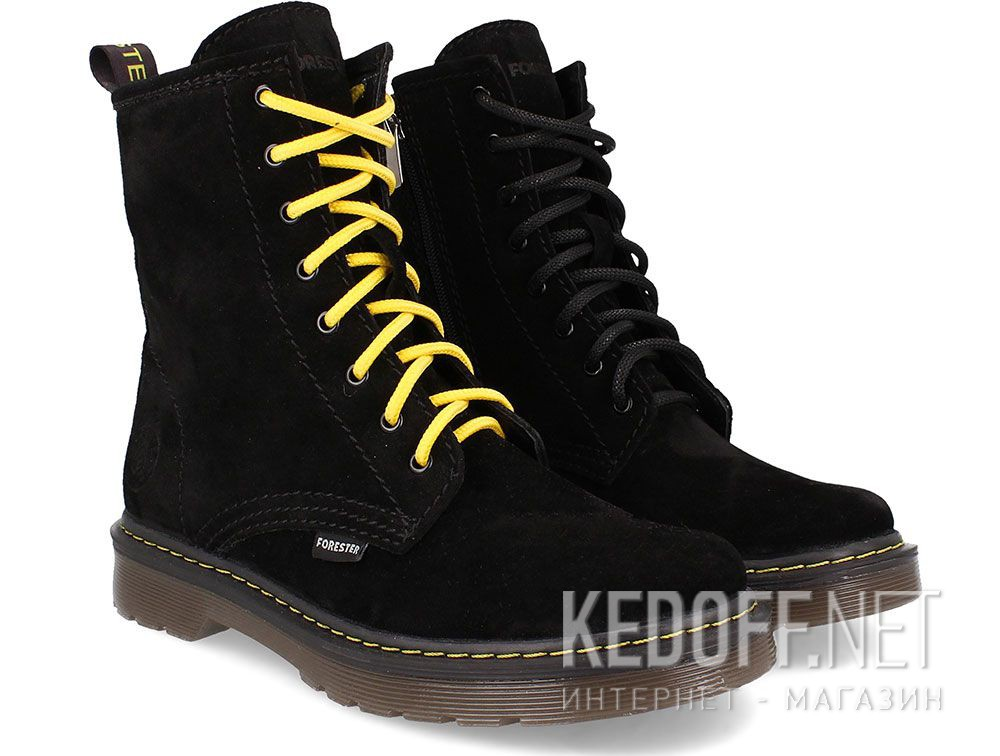 Женские ботинки Forester Black Martinez 1460-276MB купить Украина