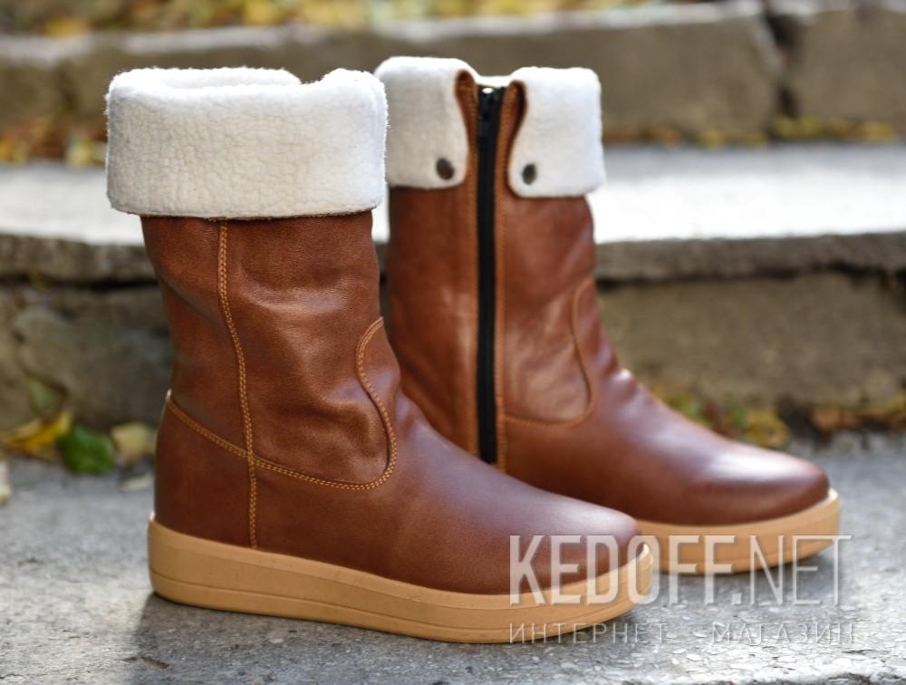 Женские сапожки Forester 5059-74 Light Brown доставка по Украине
