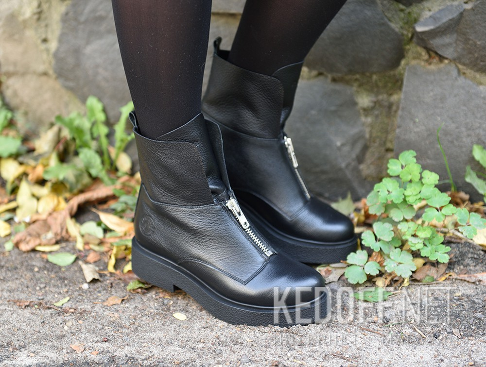 Доставка Женские ботинки Forester Woman Zip Black Mid 81801-27