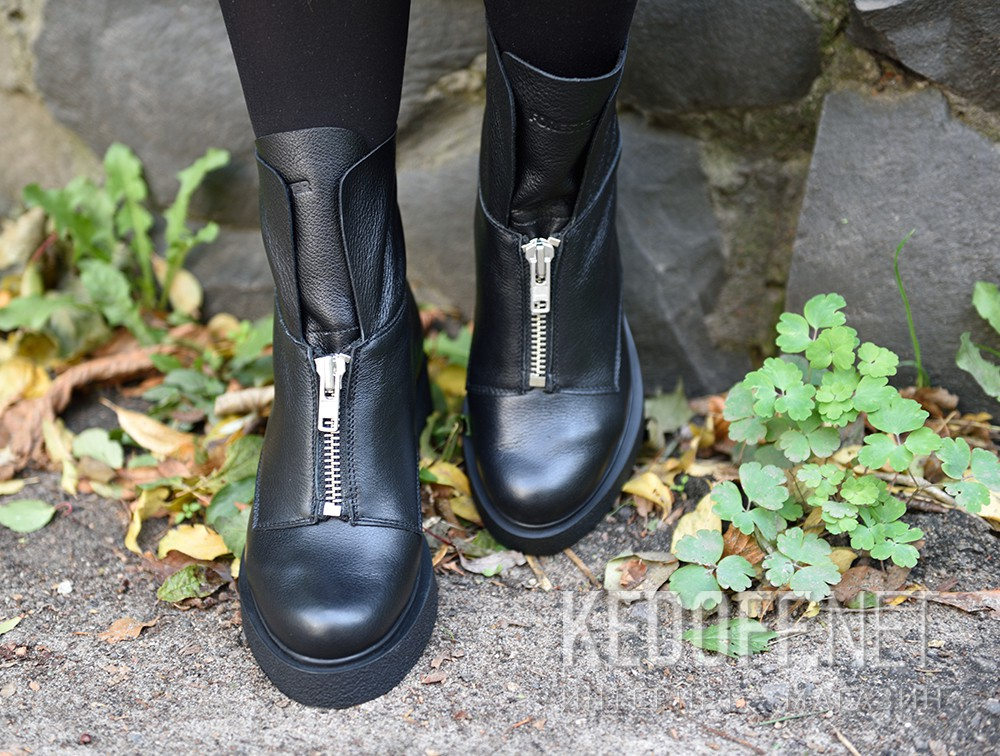 Damskie buty Forester Woman Zip Black Mid 81801-27 Na futra  доставка по Украине