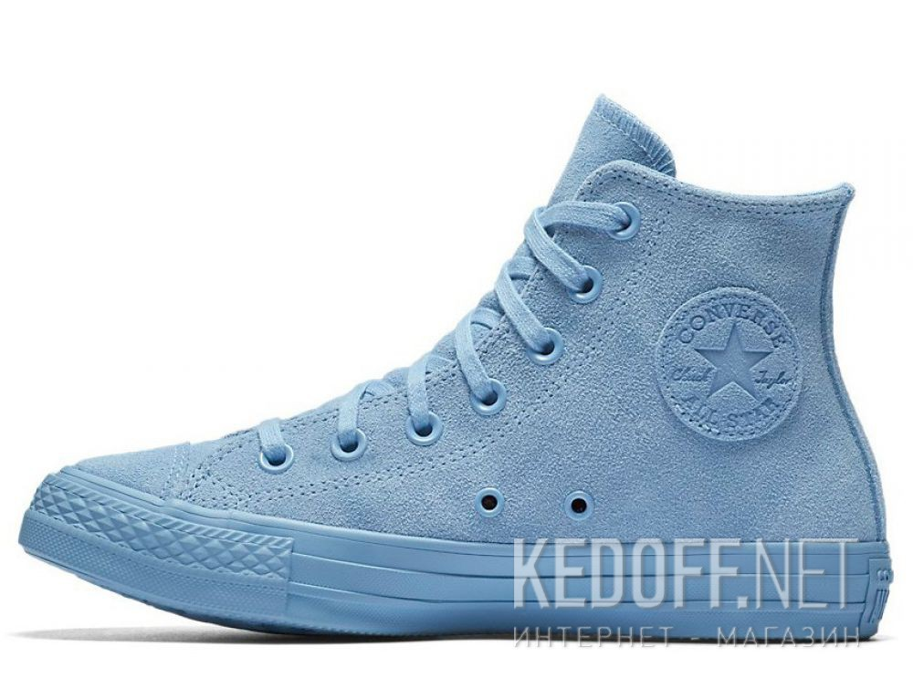 Женские кеды Converse Chuck Taylor All Star Mono Suede High Top 561729C Light  Blue купить Киев fff1e8656be4c