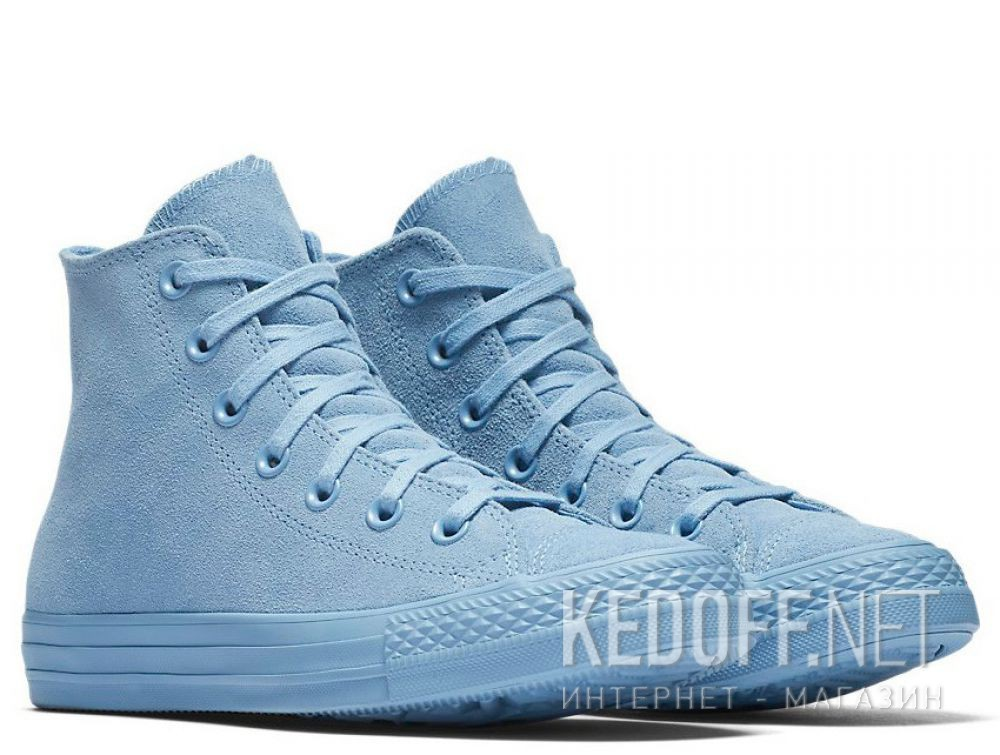 Женские кеды Converse Chuck Taylor All Star Mono Suede High Top 561729C Light  Blue 6527c4e407100