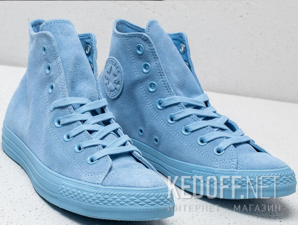 Delivery Women s Converse Chuck Taylor All Star Mono Suede High Top 561729C Light  Blue f38c08915