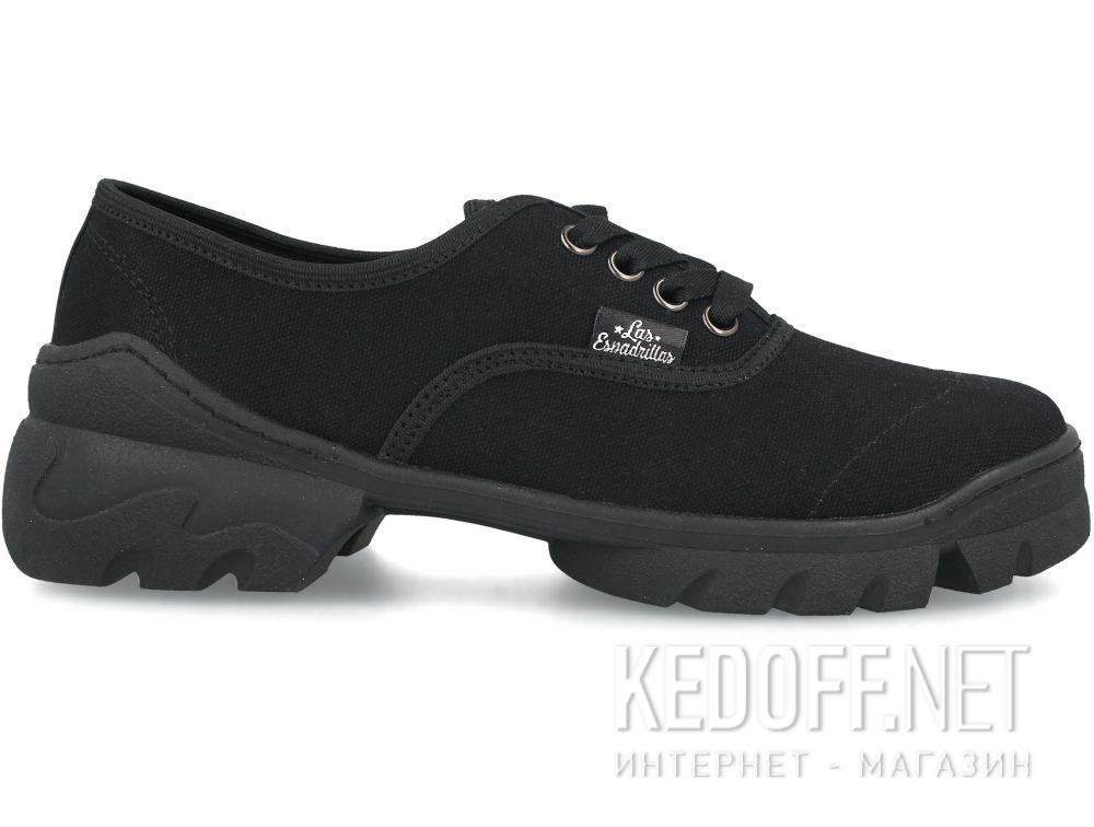Женские кеды Las Espadrillas Buffalo Black 1001-277 купить Украина