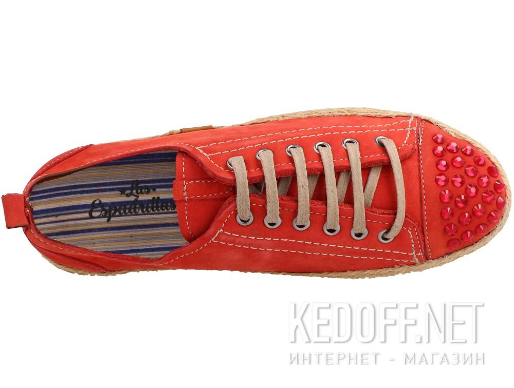 Оригинальные Женские полукеды Las Espadrillas 210111-47   (красный)