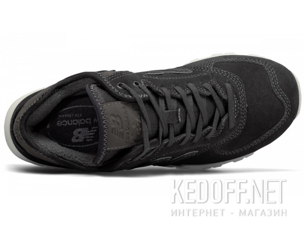 Кроссовки New Balance WH574BB Черные кожа замша описание