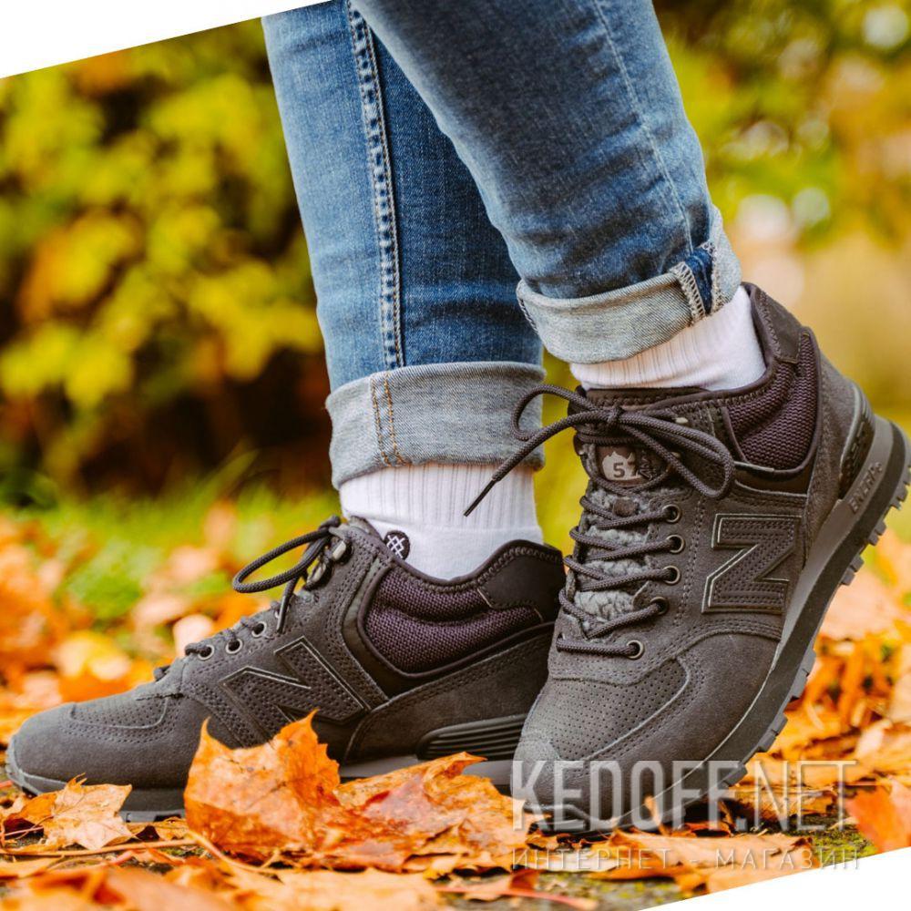 Чёрные кроссовки New Balance WH574BG все размеры